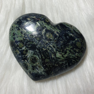 Kambaba Jasper Puffy Heart