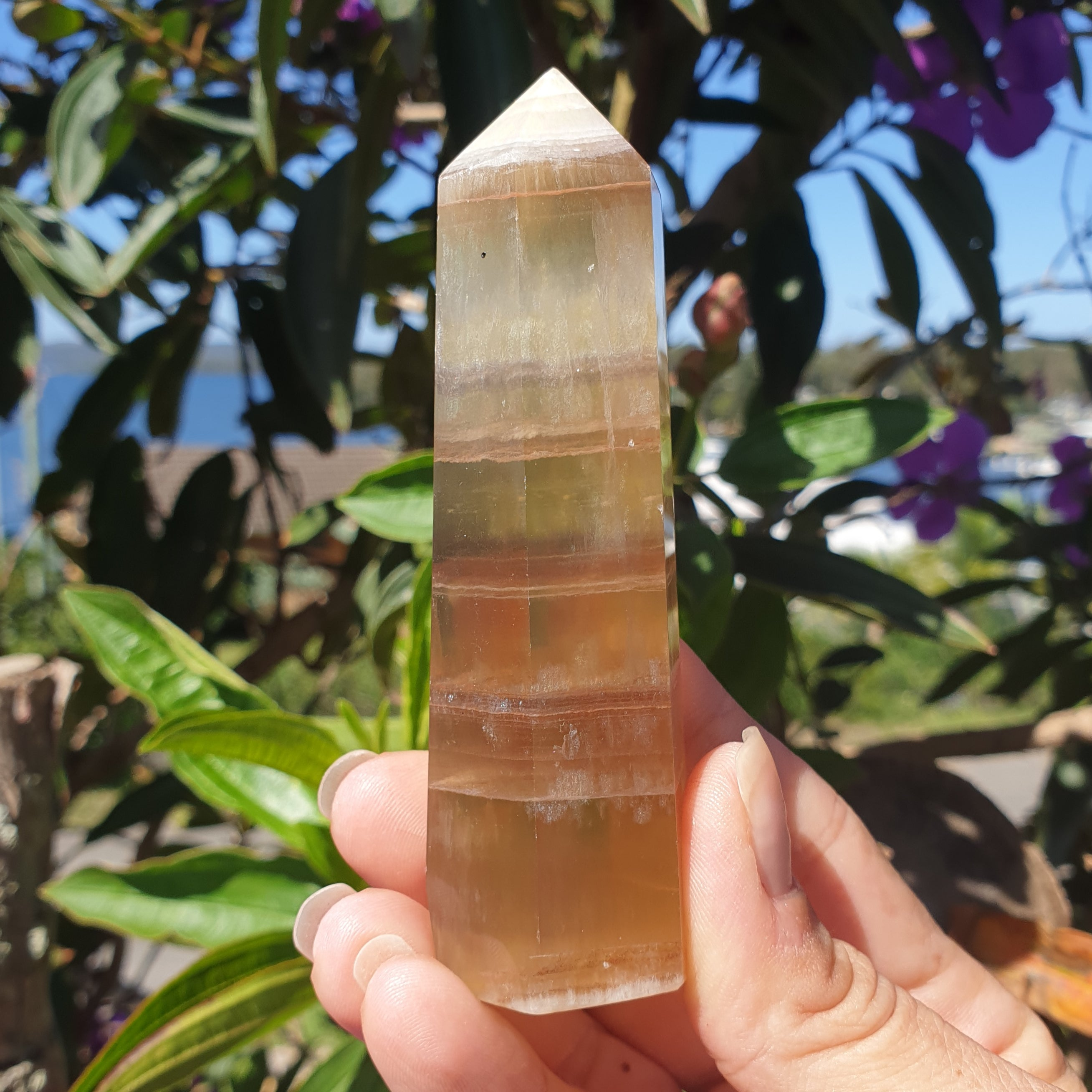 Yellow Fluorite Point