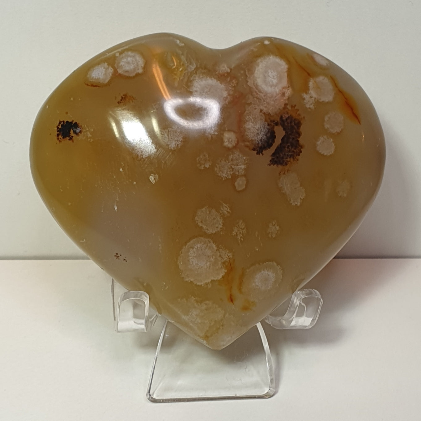 Cherry Blossom Agate Heart