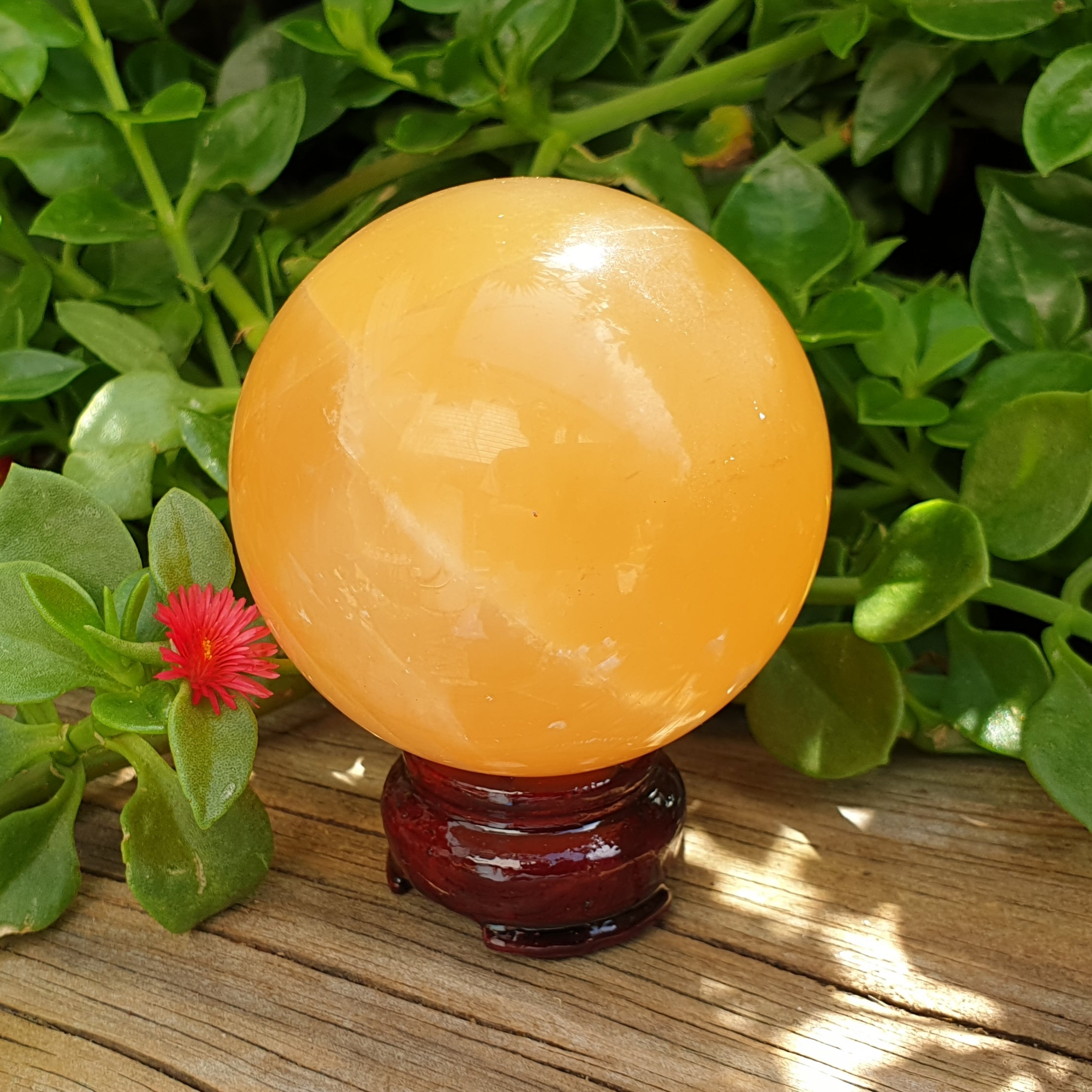 Honey Calcite Sphere