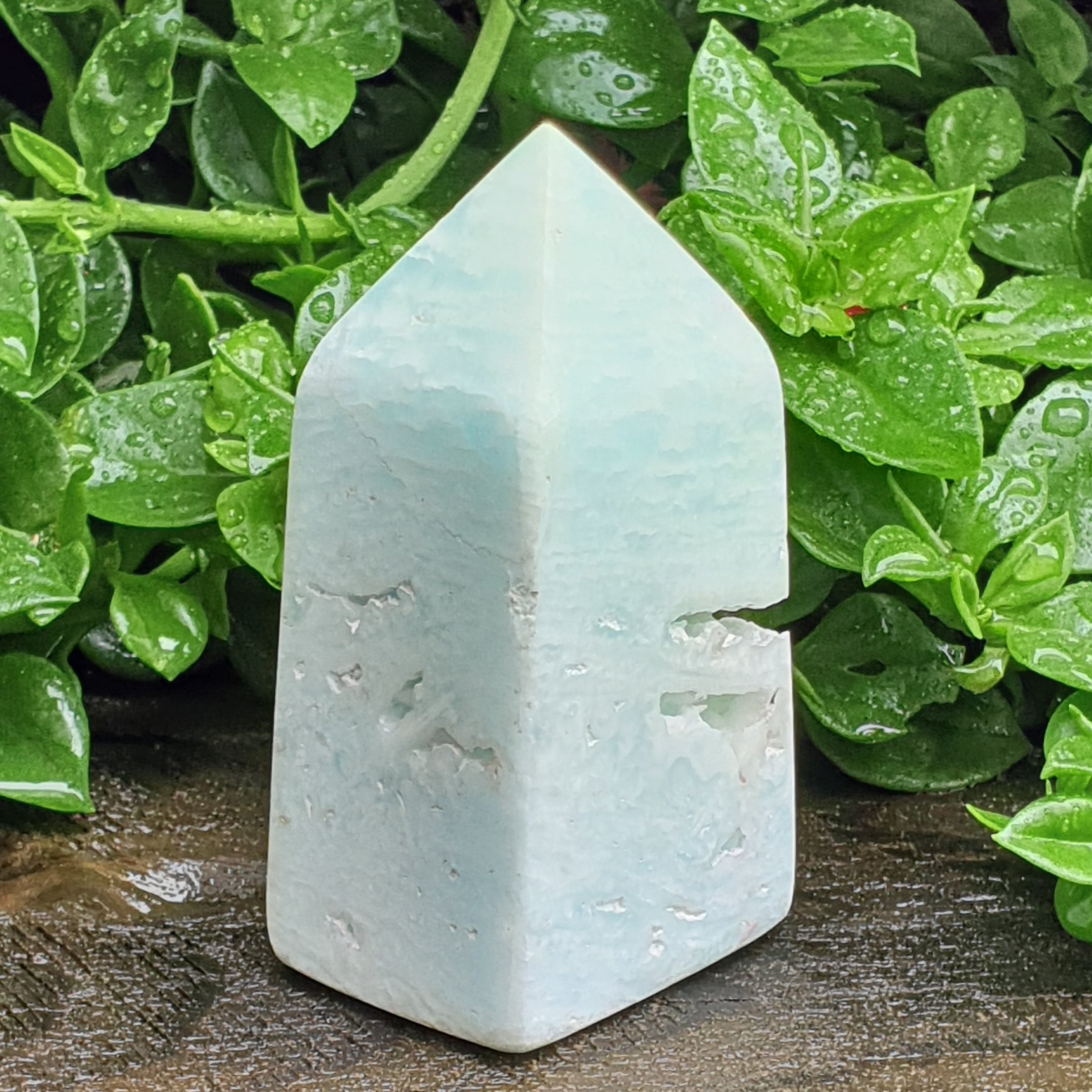 Caribbean Blue Calcite Tower