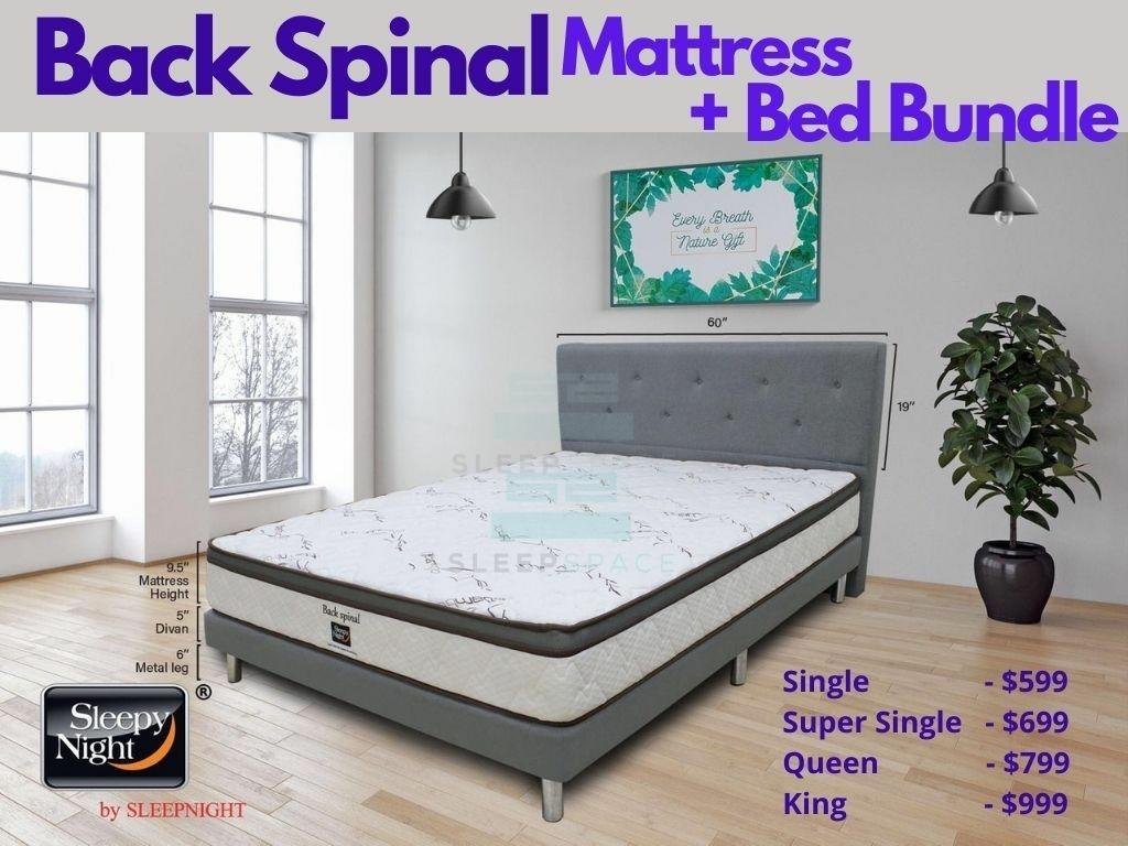 Sleepy Night Back Spinal Pocket Spring Mattress + Bed Bundle-Sleepy Night-Sleep Space