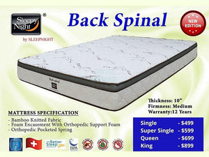 Back Spinal Pocketed Spring Mattress-Sleepy Night-Sleep Space
