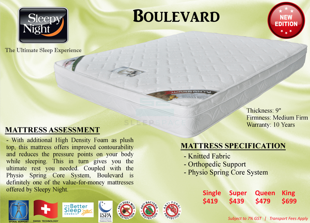 Boulevard Orthopedic Support with Plush Top Mattress-Sleepy Night-Sleep Space