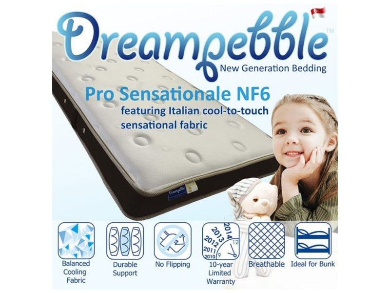 Dreampebble Pro Sensationale NF6 (Pocketed Spring)-Dreampebble-Sleep Space