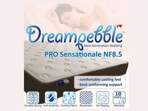 Dreampebble Pro Sensationale NF8.5 (Pocketed Spring)-Dreampebble-Sleep Space