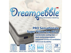 Dreampebble Pro Sensationale Super Pillow Top NF12 (Pocketed Spring)-Dreampebble-Sleep Space