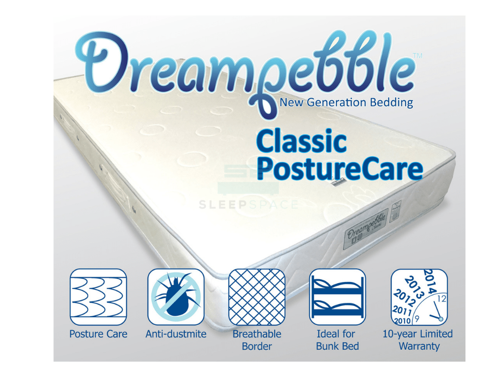 Dreampebble Classic Posture Care Spring Mattress (6.5″)-Dreampebble-Sleep Space