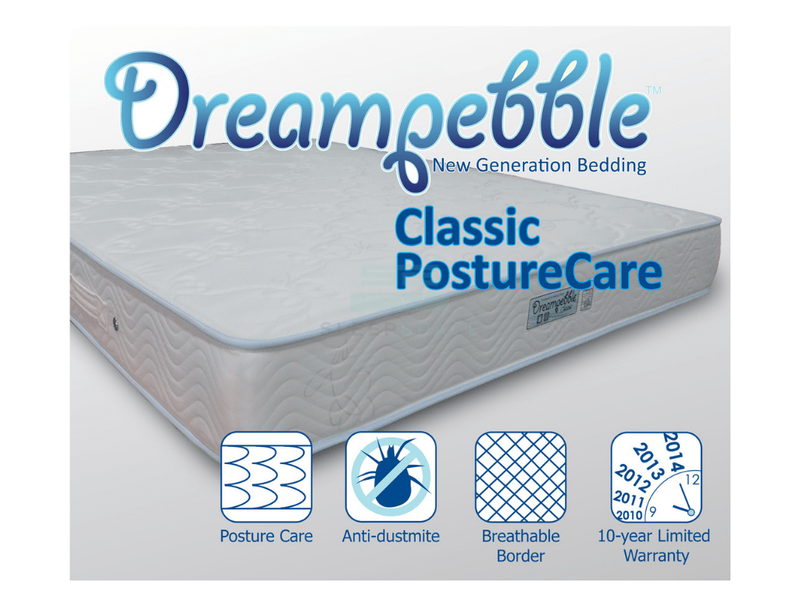 Dreampebble Classic Posture Care Spring Mattress (8″)-Dreampebble-Sleep Space