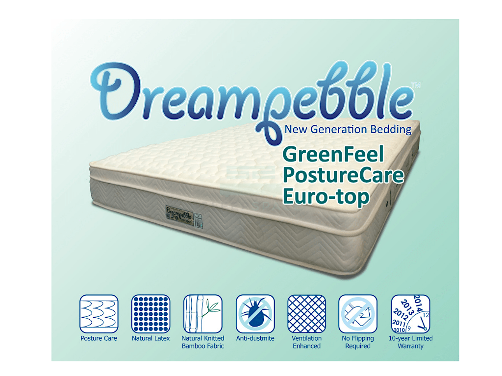 Dreampebble GreenFeel With Posture Care Spring Euro-Top Mattress