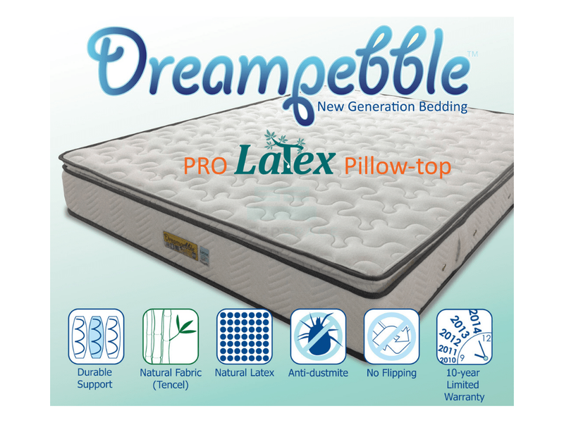 Dreampebble Pro Latex Pillow-Top Non-Flip Mattress