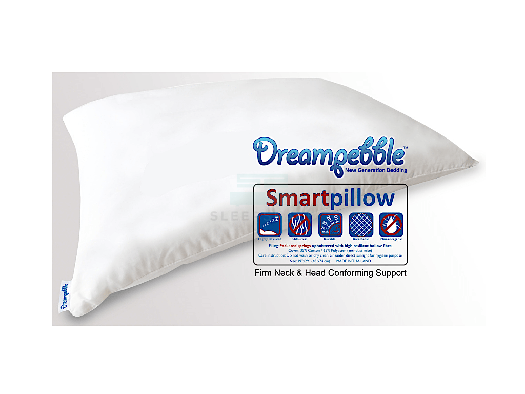 Dreampebble Smart Pillow with Pocketed Springs-Dreampebble-Sleep Space