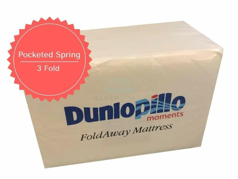Dunlopillo 3 Fold Away Mattress (Pocketed Spring)-Dunlopillo-Sleep Space