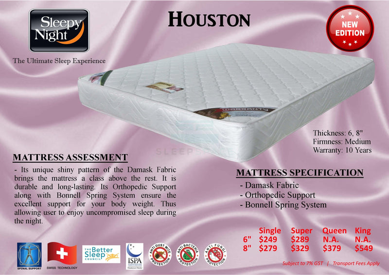 Houston Orthopedic Support Mattress-Sleepy Night-Sleep Space