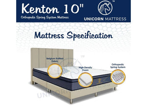 Unicorn Kenton Orthopedic Spring System Mattress (10 inch)-Unicorn-Sleep Space