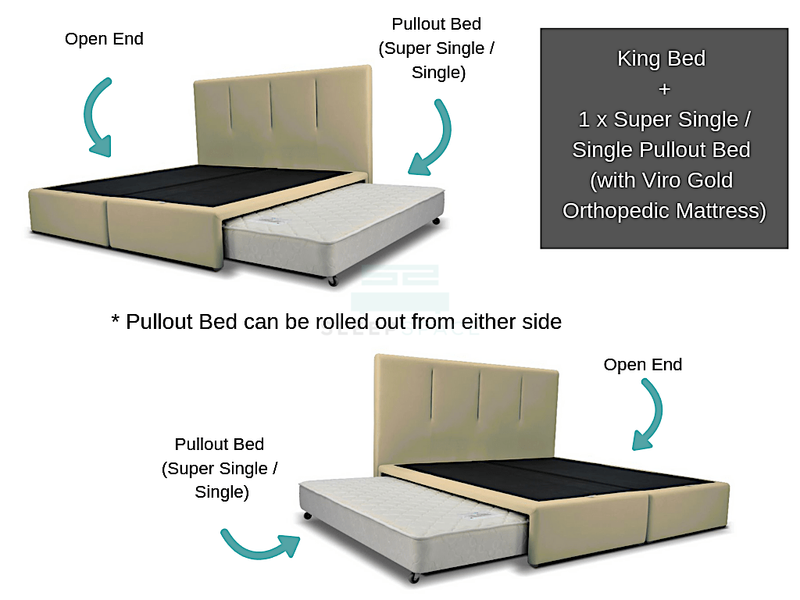 King Size Bed + 1 Pullout Bed-Viro-Sleep Space