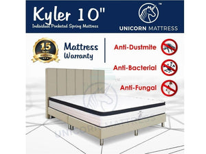Unicorn Kyler Individual Pocketed Spring Mattress (10 inch)-Unicorn-Sleep Space