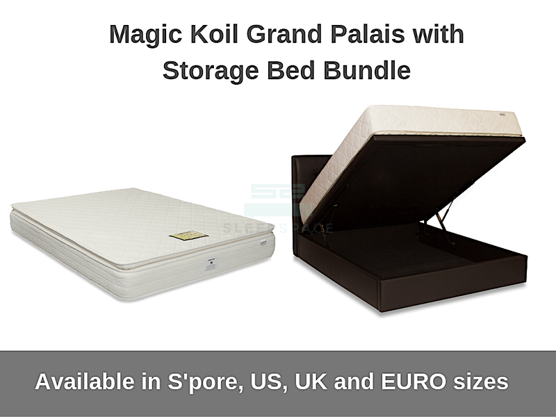 Magic Koil Grand Palais with Storage Bed Bundle-Magic Koil-Sleep Space
