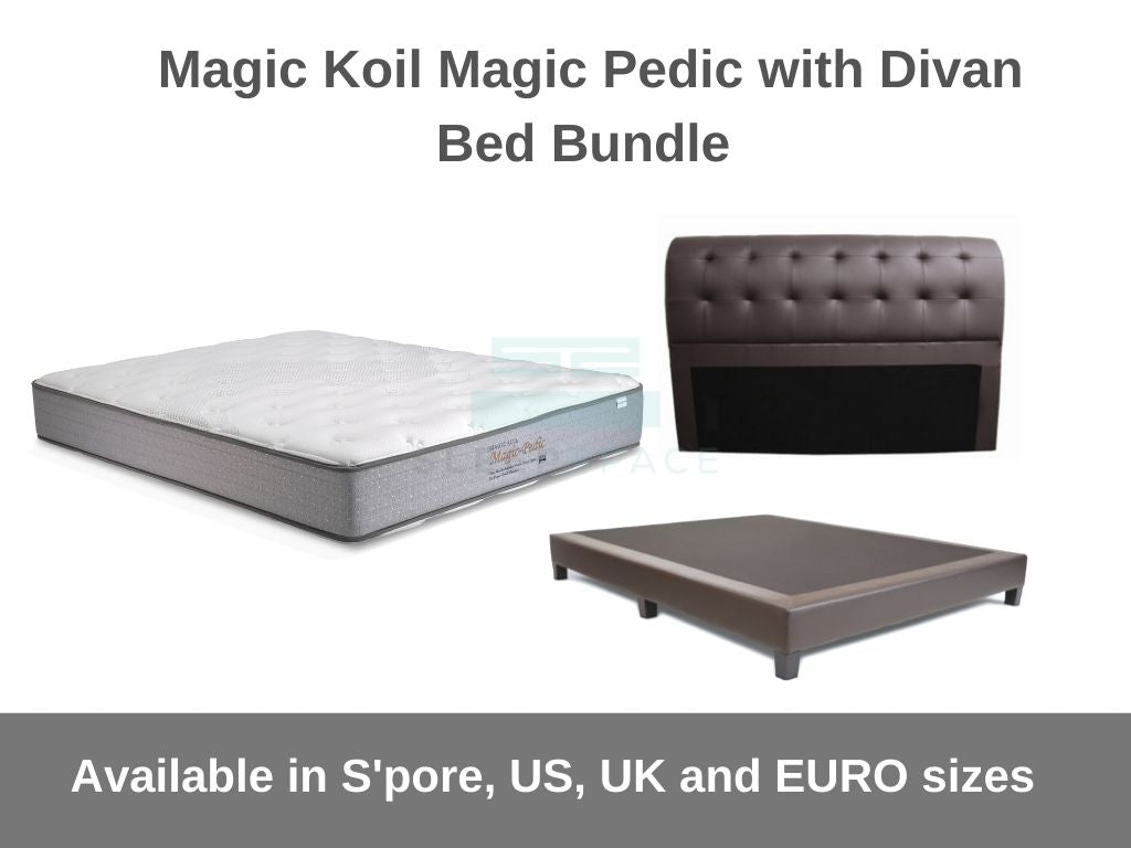 Magic Koil Magic-Pedic with Divan Bed Bundle-Magic Koil-Sleep Space