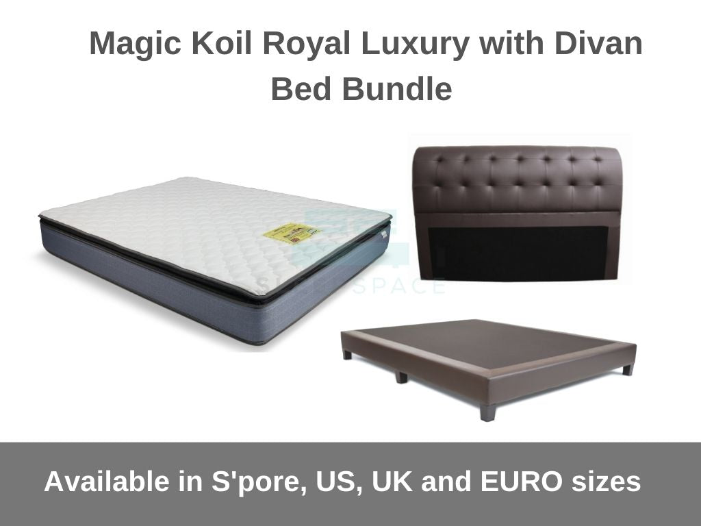 Magic Koil Royal Luxury with Divan Bed Bundle-Magic Koil-Sleep Space
