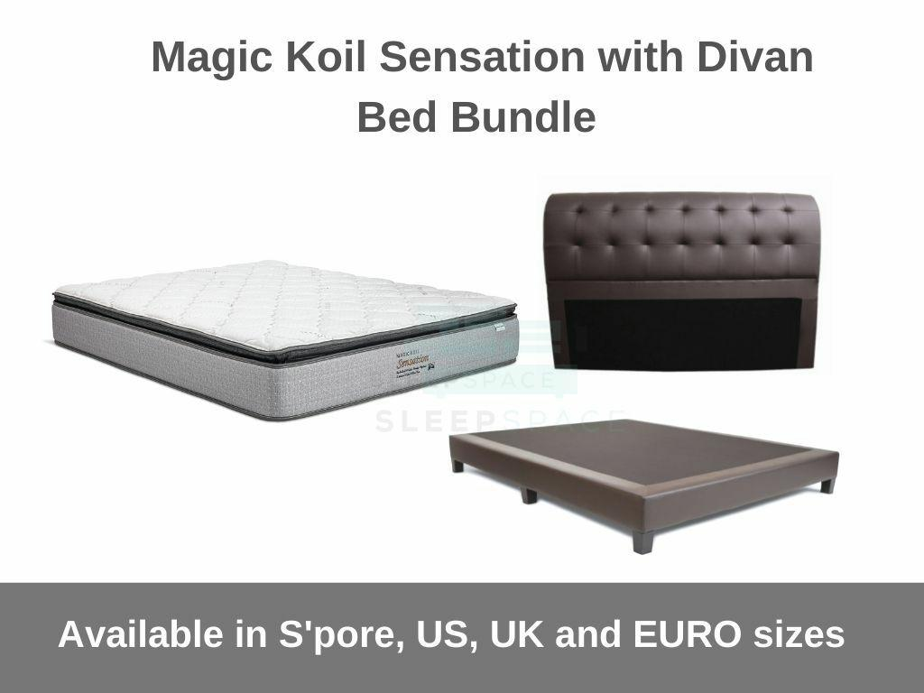 Magic Koil Sensation with Divan Bed Bundle-Magic Koil-Sleep Space