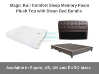 Magic Koil Comfort Sleep Memory Foam Plush Top with Divan Bed Bundle-Magic Koil-Sleep Space
