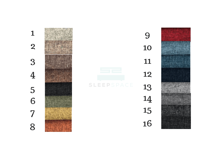 magic koil fabric bed colors