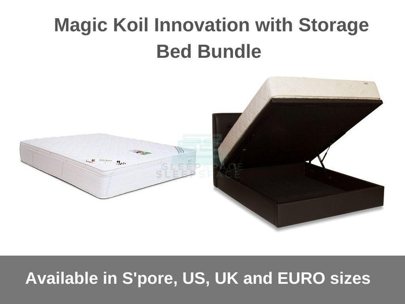 Magic Koil Innovation Pocket Spring Mattress with Storage Bed Bundle-Magic Koil-Sleep Space