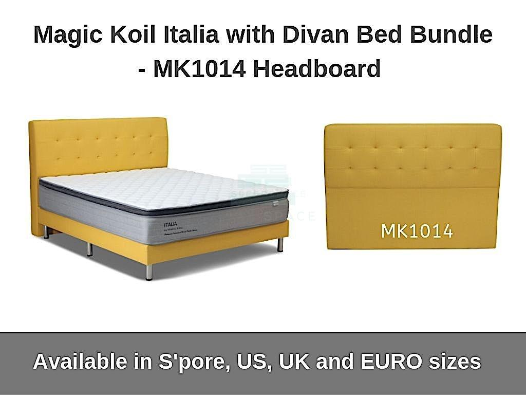 Magic Koil Italia Pocketed Spring Mattress with Divan Bed (MK1014) Bundle-Magic Koil-Sleep Space
