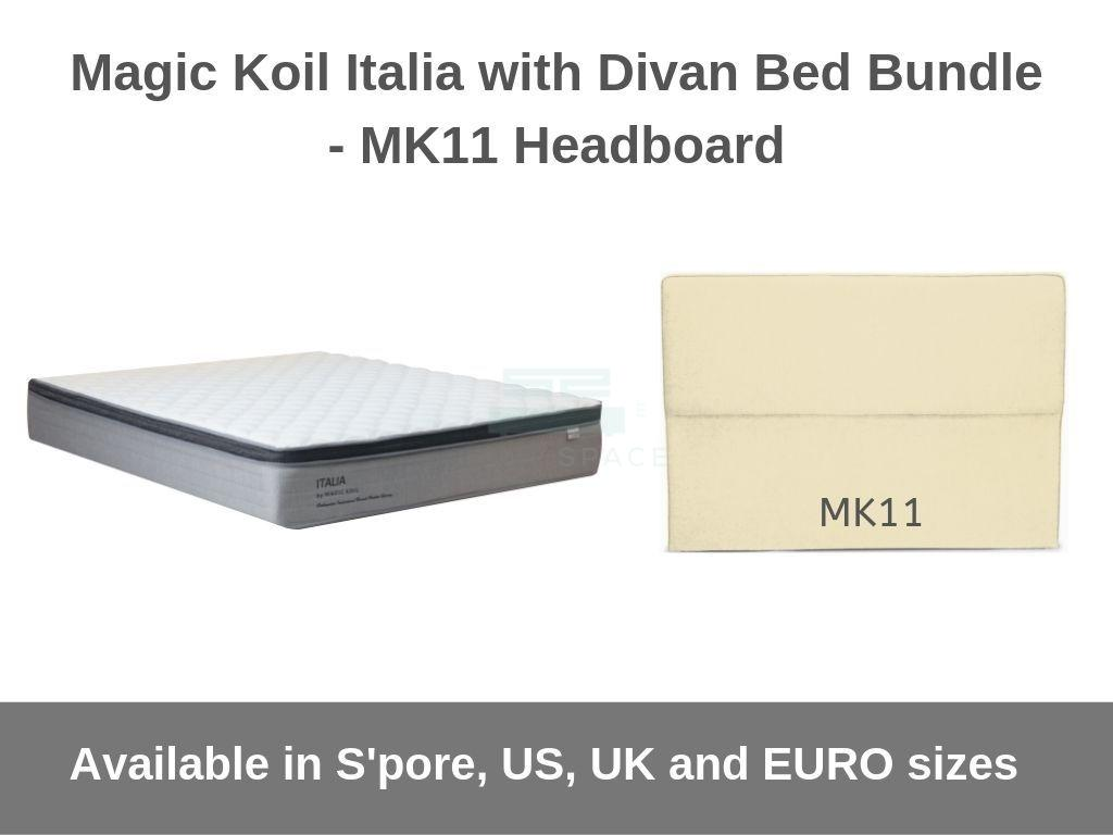 Magic Koil Italia Pocketed Spring Mattress with Divan Bed (Mk11) Bundle-Magic Koil-Sleep Space