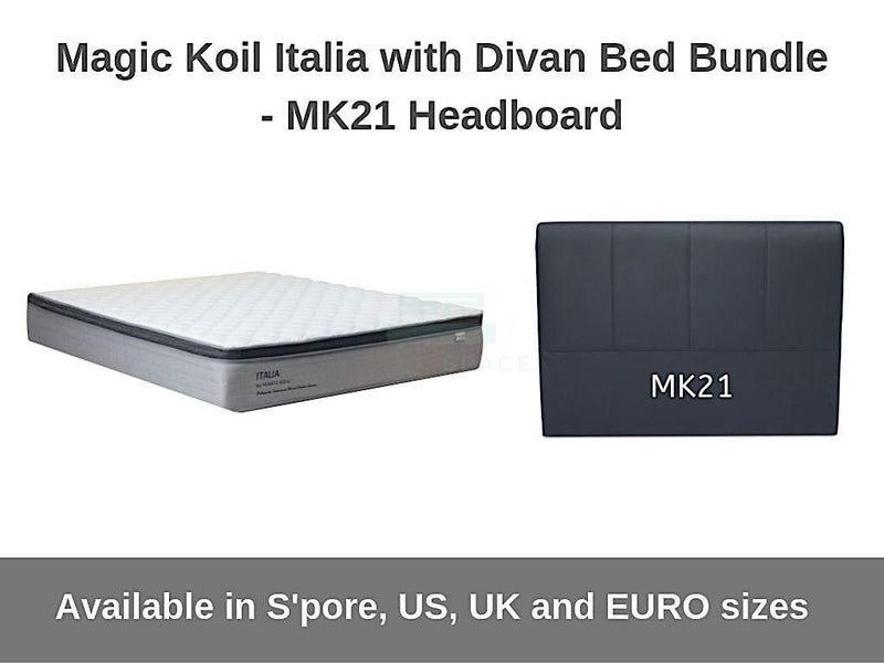 Magic Koil Italia Pocketed Spring Mattress with Divan Bed (Mk21) Bundle-Magic Koil-Sleep Space