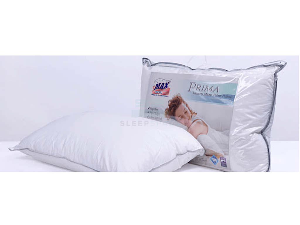 Maxcoil Prima Micro Fibre Pillow-Maxcoil-Sleep Space