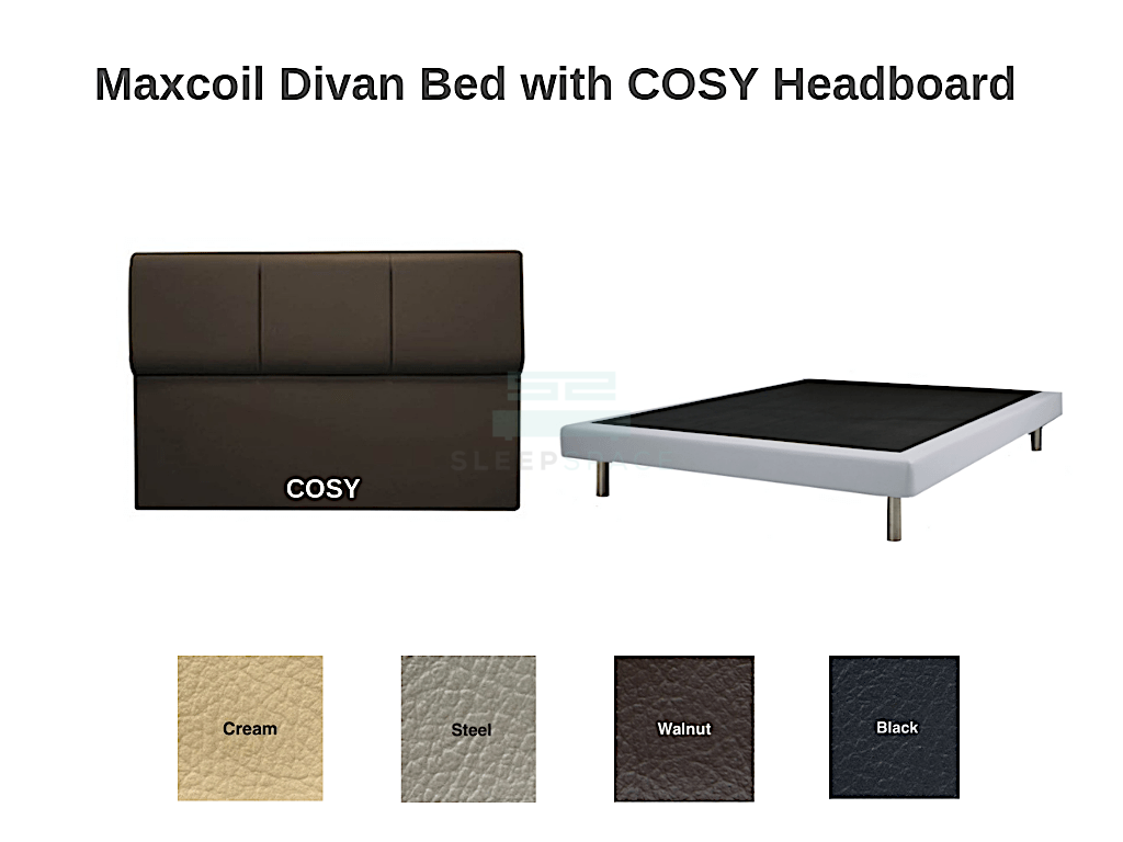 Maxcoil Divan Bed - COSY Headboard-Maxcoil-Sleep Space