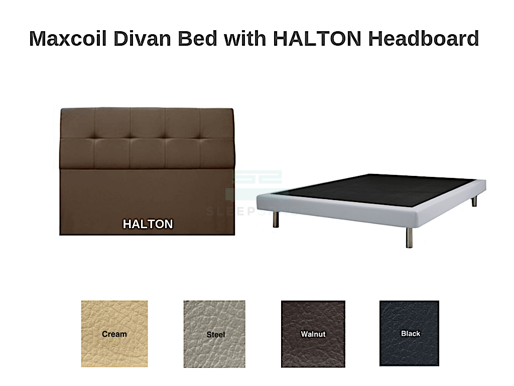 Maxcoil Divan Bed - HALTON Headboard-Maxcoil-Sleep Space
