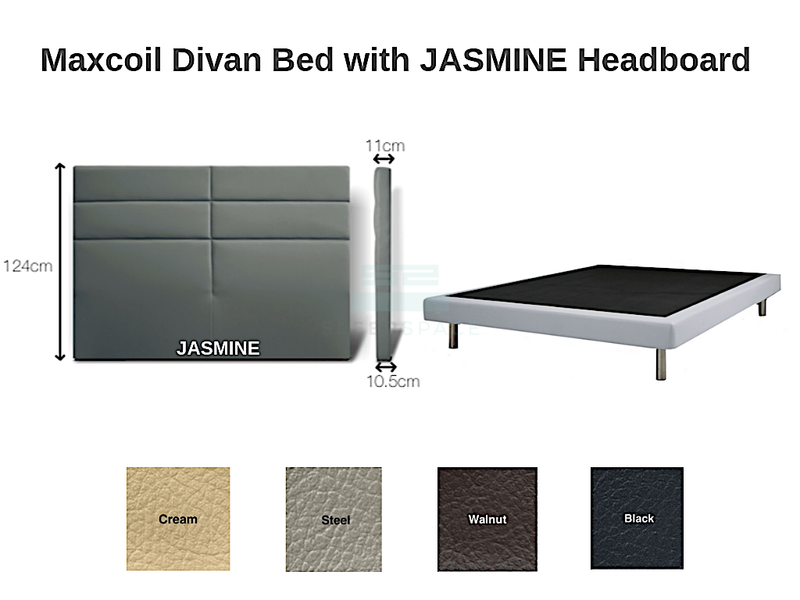 Maxcoil Divan Bed - JASMINE Headboard-Maxcoil-Sleep Space
