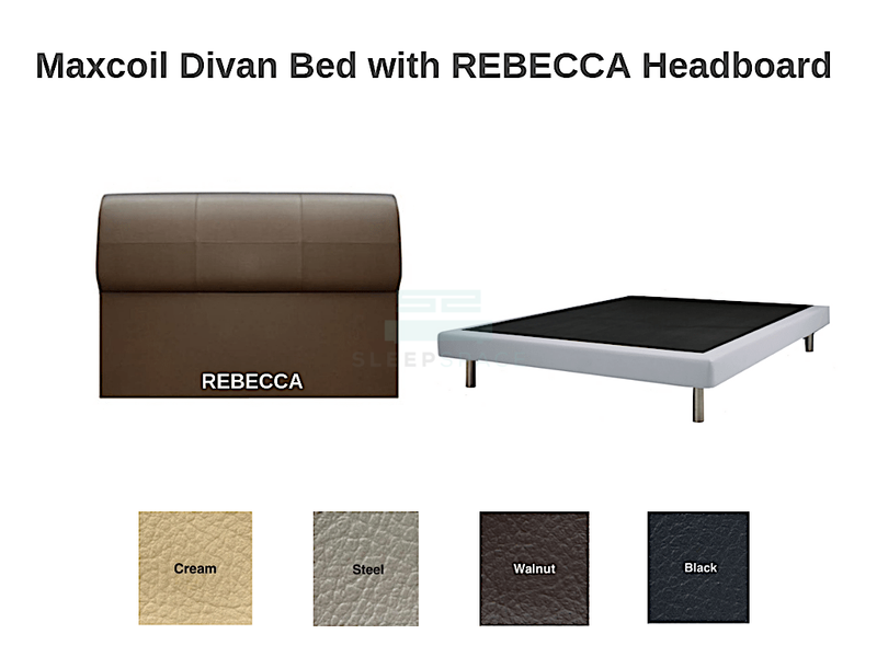 Maxcoil Divan Bed - REBECCA Headboard-Maxcoil-Sleep Space