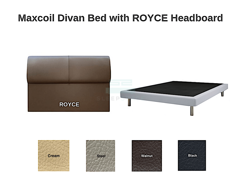 Maxcoil Divan Bed - ROYCE Headboard-Maxcoil-Sleep Space
