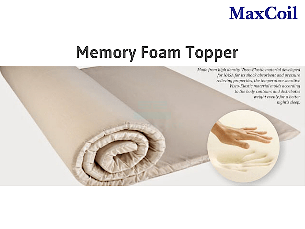 Maxcoil Stress Relaxer Memory Foam Mattress Topper-Maxcoil-Sleep Space