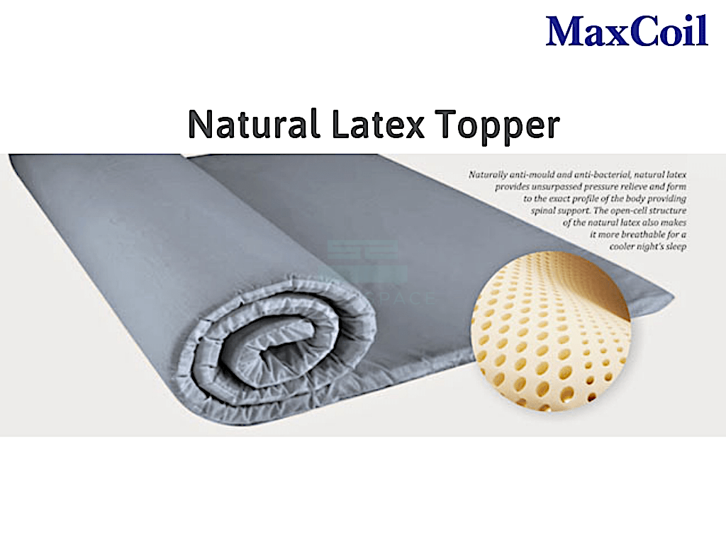 Maxcoil Perfect Sleeper Natural Latex Mattress Topper-Maxcoil-Sleep Space