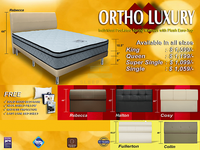 MaxCoil Ortho Luxury Pocketed Spring Mattress & Bed Bundle-Maxcoil-Sleep Space