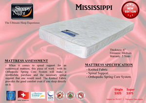Mississippi Orthopedic Spring Mattress-Sleepy Night-Sleep Space
