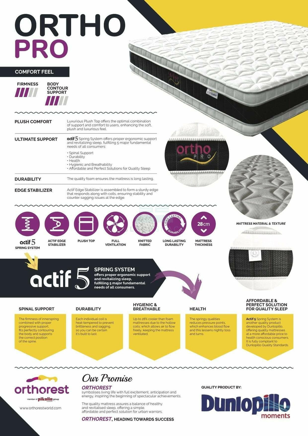 Orthorest Ortho Pro Mattress-Orthorest-Sleep Space