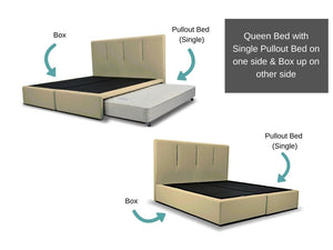 Queen size Viro Pullout Bed + Box Combo-Viro-Sleep Space