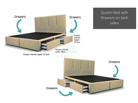 Queen Viro Bed with Drawers (Both Sides)-Viro-Sleep Space