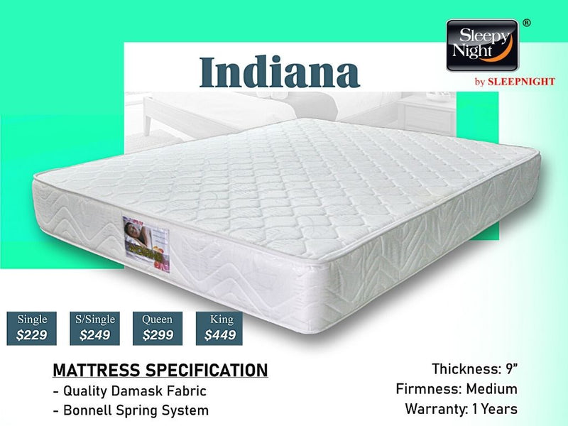 Indiana Spring Mattress -Popular Choice!-Sleepy Night-Sleep Space
