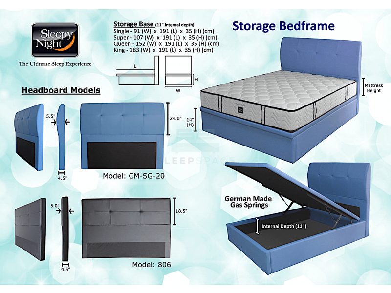 Sleepy Night Storage Bedframe – POPULAR!-Sleepy Night-Sleep Space