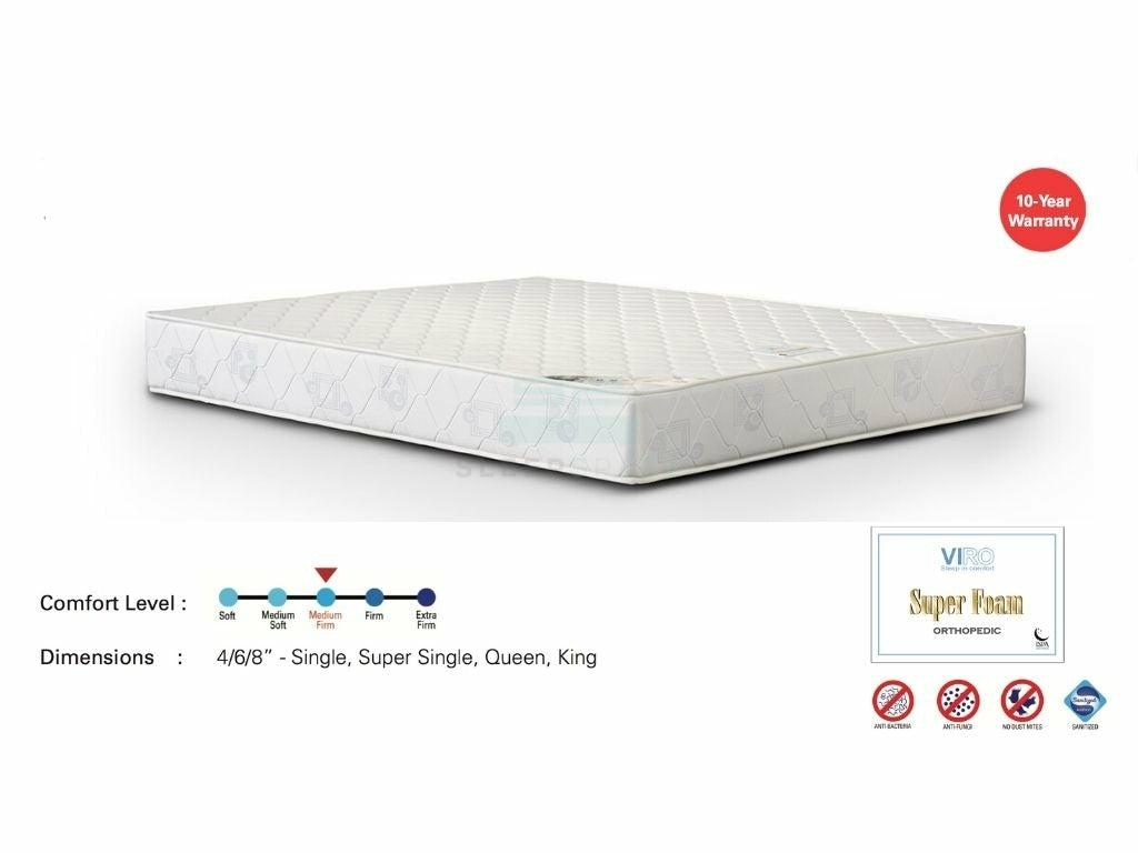 Viro Super Foam Orthopedic Mattress-Viro-Sleep Space