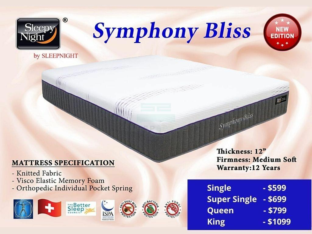 Symphony Bliss Pocketed Spring Mattress-Sleepy Night-Sleep Space