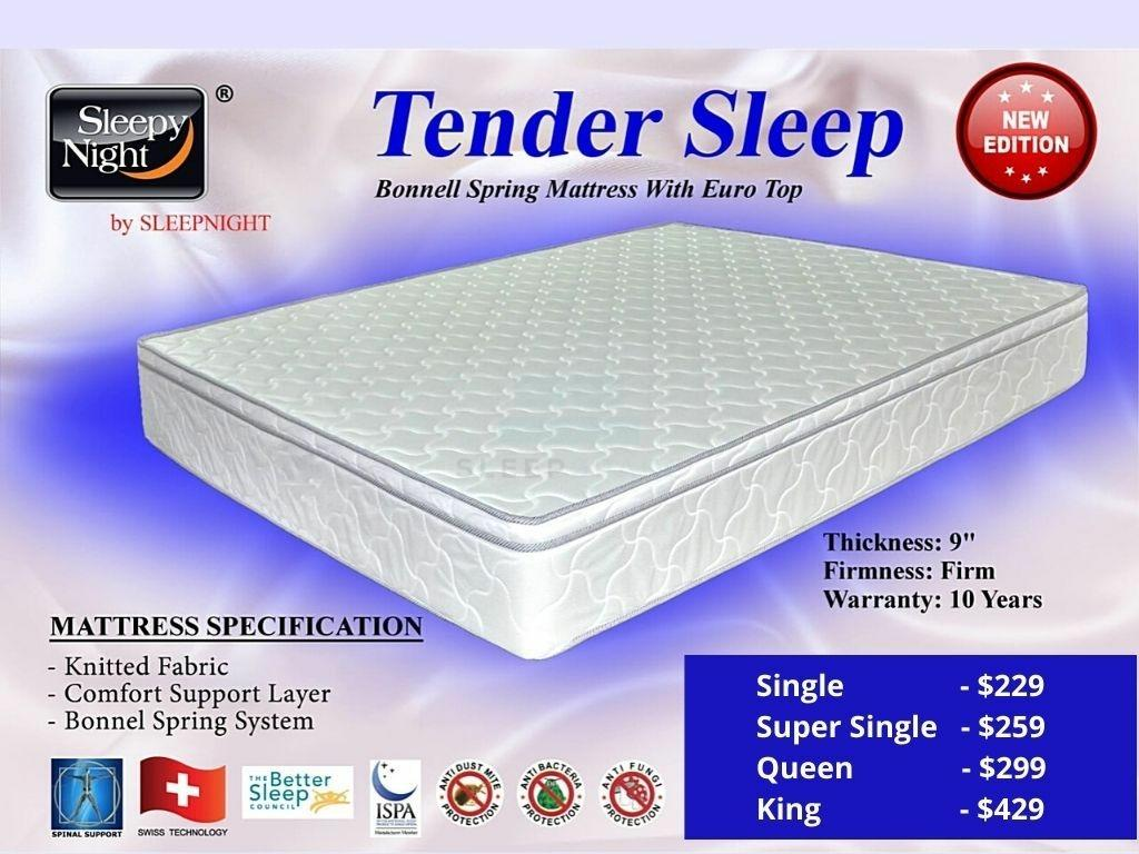 Tender Sleep Spring Mattress (Firm)-Sleepy Night-Sleep Space