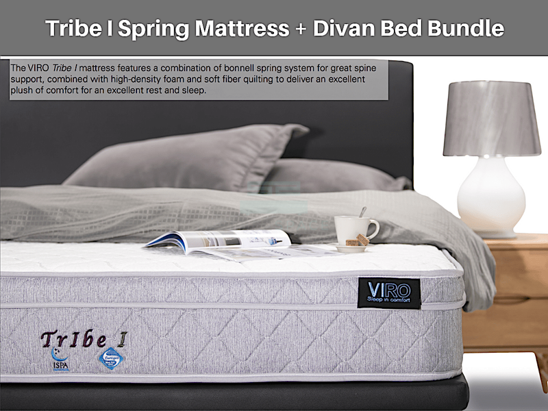 Tribe I Spring Mattress + Divan Bundle Promo-Viro-Sleep Space